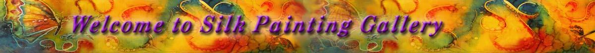 Silk Painting Gallery website