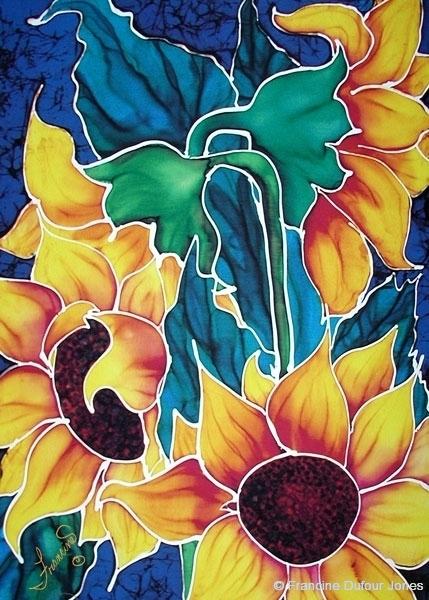 Flowers silk painting gallery sunflower series orig sassysunflowers mightylinksfo