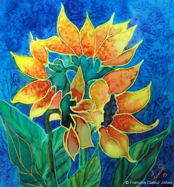 Flowers silk painting gallery sunflowers alittlesunshine mightylinksfo